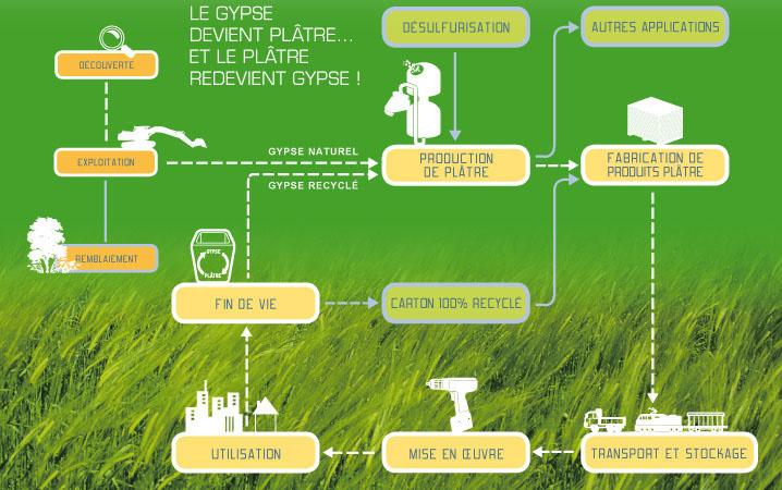 Cycle de vie du plâtre