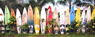 Surfboard-fence
